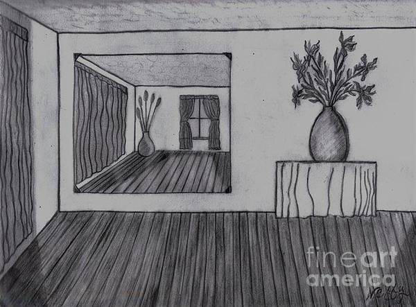 Drawing - The Other Side Of The Room by Neil Stuart Coffey