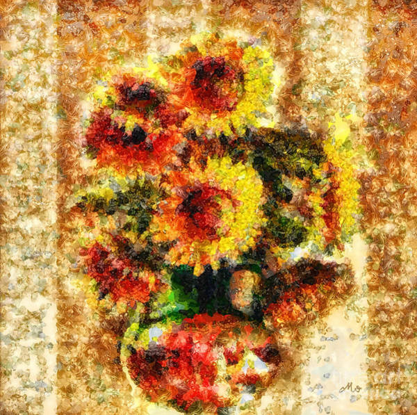 Impression Mixed Media - The Other Sunflowers by Mo T