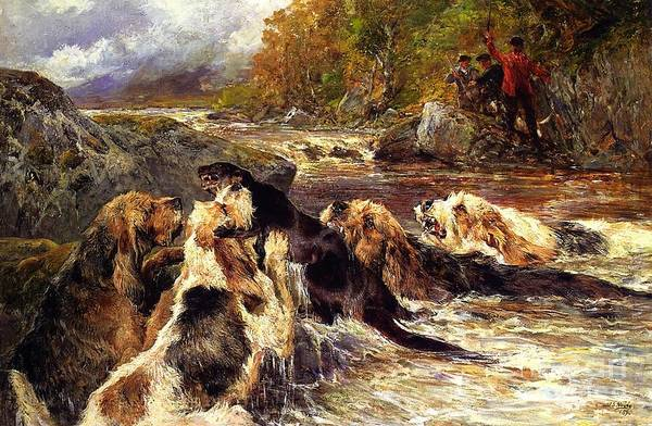 Painting - The Otter Hunt by Celestial Images