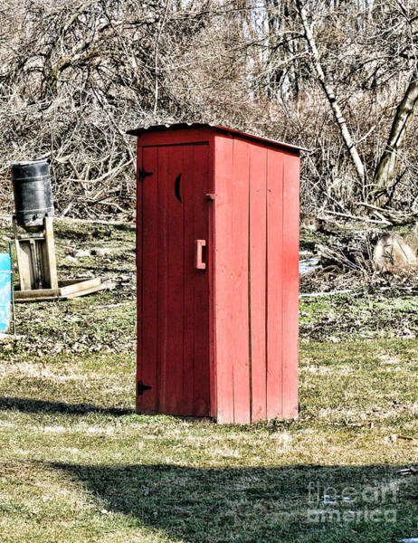 Water Closet Photograph - The Outhouse - 1 by Paul Ward