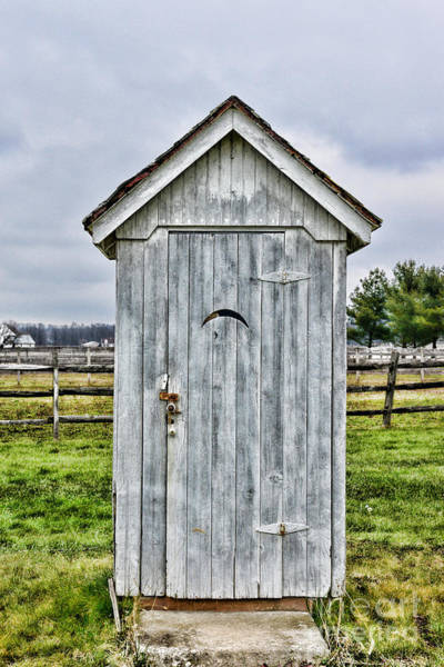 Water Closet Photograph - The Outhouse - 2 by Paul Ward