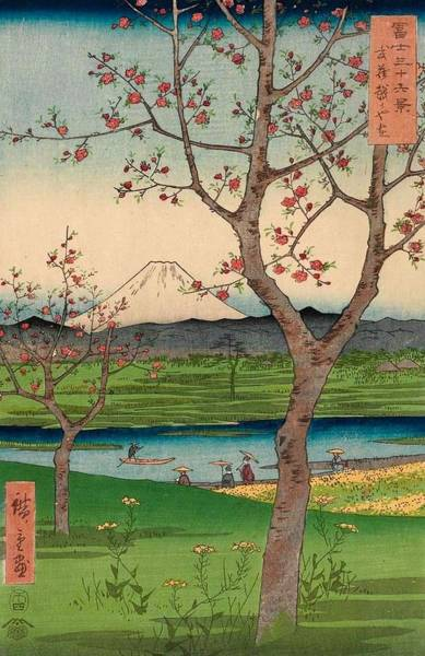 Thirty-six Views Of Mount Fuji Wall Art - Painting - The Outskirts Of Koshigaya In Musashi Province by Utagawa Hiroshige