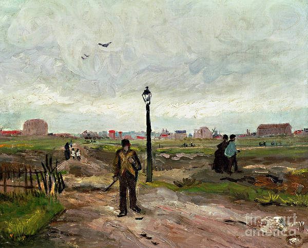 Crt Painting - The Outskirts Of Paris by Vincent van Gogh
