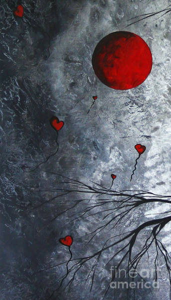 Wall Art - Painting - The Overseers 1 Of 2 Whimsical Crow Moon Heart Painting By Megan Duncanson by Megan Duncanson