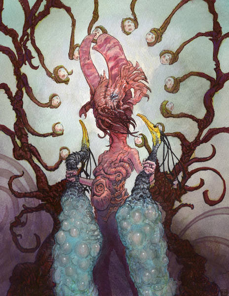 Wall Art - Painting - The Ovipositor by Ethan Harris