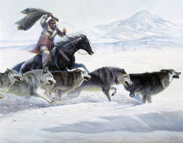 Blanket Painting - The Pack by Gregory Perillo
