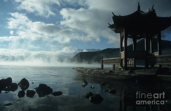 Photograph - The Pagoda Lugu Lake China by James Brunker