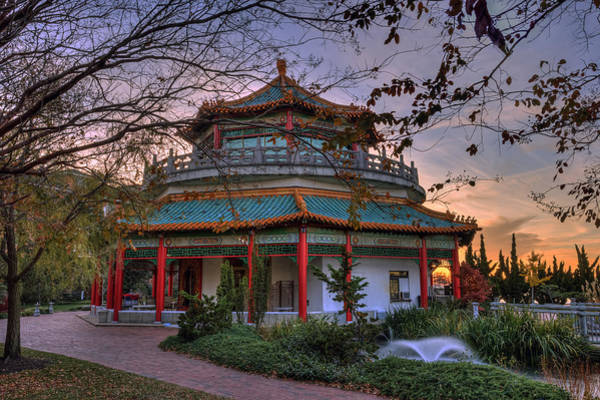 Photograph - The Pagoda Norfolk Virginia by Jerry Gammon