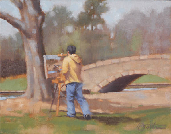 Charlotte Nc Wall Art - Painting - The Painter by Todd Baxter