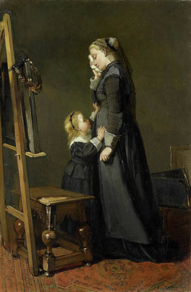 Wall Art - Painting - The Painter Widow, Kate Bisschop-swift by Litz Collection