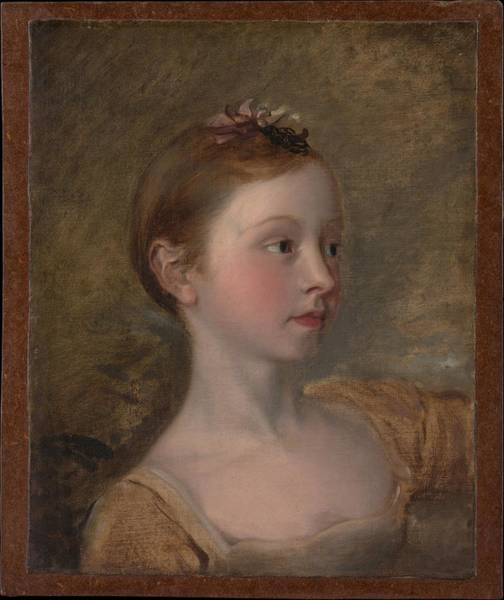 Thomas Gainsborough Wall Art - Painting - The Painters Daughter Mary 1750-1826 by Copy after Thomas Gainsborough