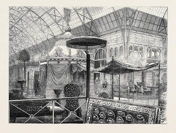 Royal Court Drawing - The Palace Of Industry At Paris by Indian School