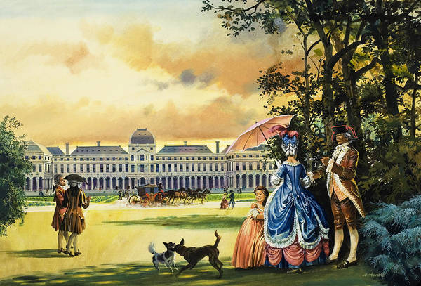 Elegant Dog Painting - The Palace Of The Tuileries by Andrew Howat