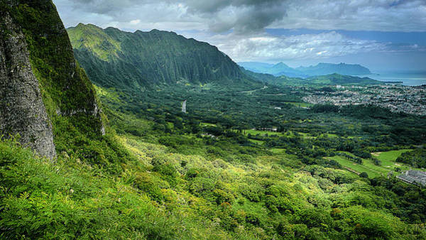Photograph - The Pali Oahu Hawaii by Wayne Wood