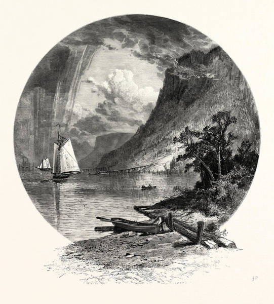 1924 Drawing - The Palisades, From The River by J.d. Woodward, John Douglas (1846?1924), American