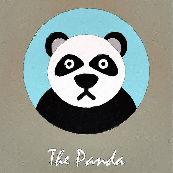 Panda Drawing Painting - The Panda Cute Portrait by Florian Rodarte