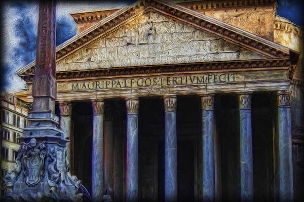 Wall Art - Photograph - The Pantheon - Marcus Built This by Lee Dos Santos