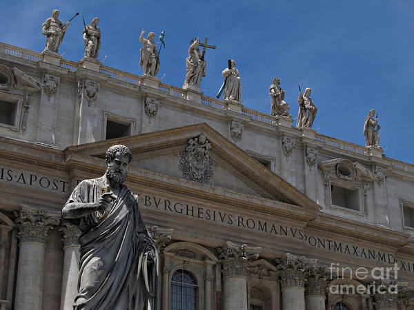 Saint Peters Square Photograph - The Papal Basilica Of Saint Peter by Kiril Stanchev