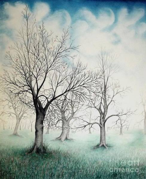 Drawing - The Park by David Neace
