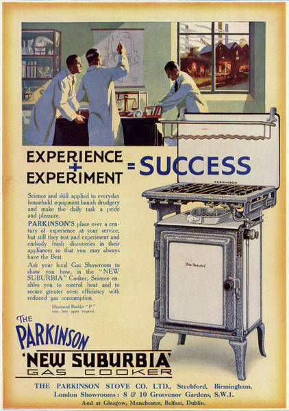 Experience Drawing - The Parkinson 'new Suburbia' Gas Cooker by Mary Evans Picture Library