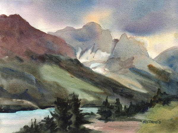 Jackson Hole Wall Art - Painting - The Pass by Kris Parins