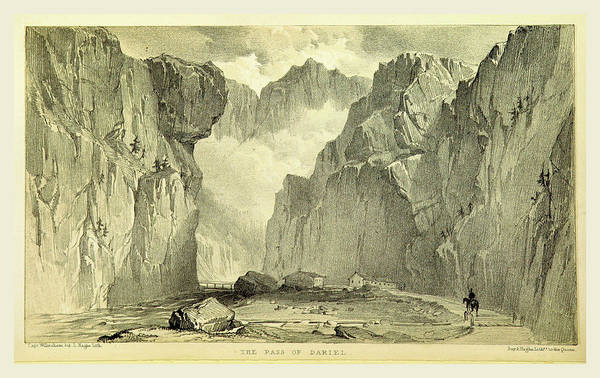 Caucasian Drawing - The Pass Of Dariel, Travels In The Trans-caucasian by Litz Collection
