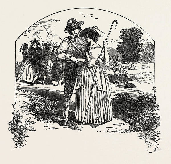 Wall Art - Drawing - The Passionate Shepherd To His Love Book Of English Songs by English School