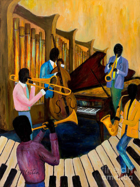 Grand Piano Painting - The Pastels by Larry Martin