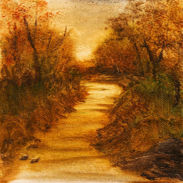 Painting - Landscape - Trees - The Path by Barry Jones