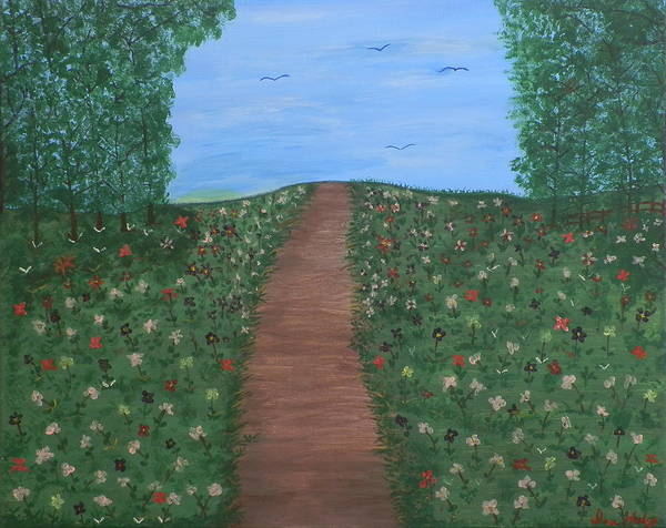 Ione Painting - The Path by Ione Hedges