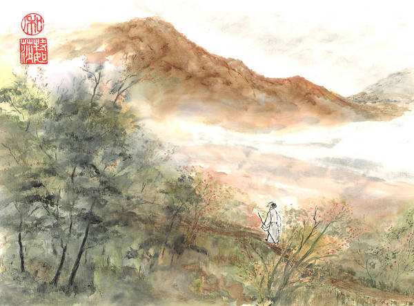 Wall Art - Painting - The Path by Terri Harris