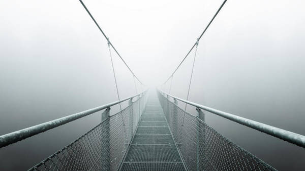 Suspension Bridge Photograph - The Path To Infinity by Max Zimmermann