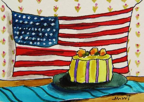 Atc Painting - The Patriotic Baker by John Williams