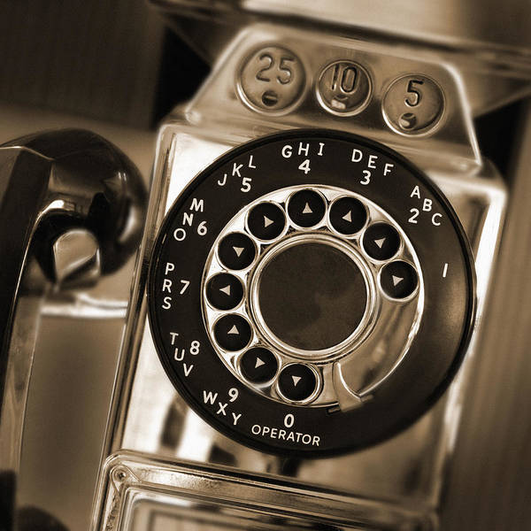 Telephone Photograph - The Pay Telephone by Mike McGlothlen