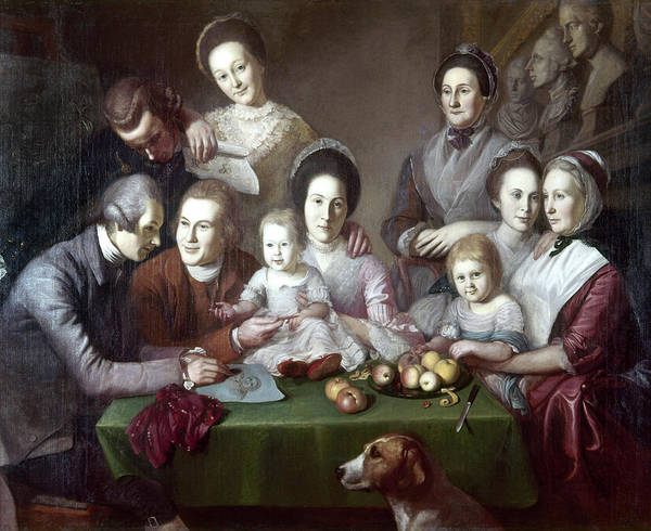 Wall Art - Painting - The Peale Family, C1773 by Granger