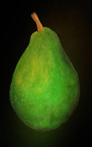 Wall Art - Pastel - Green Pear by Emil Bodourov