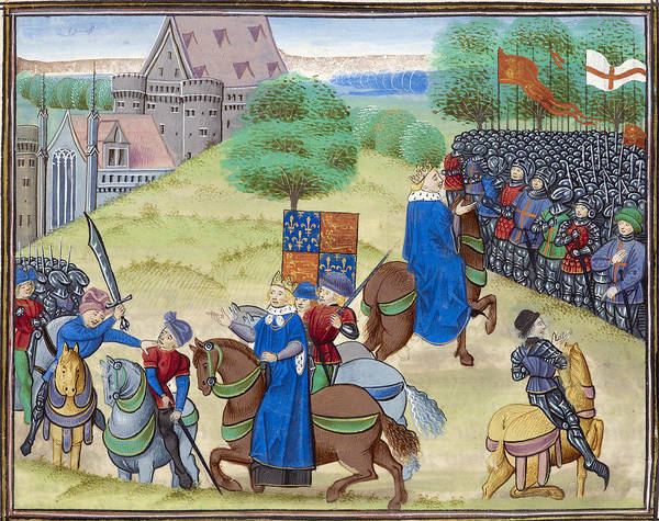Wall Art - Photograph - The Peasants Revolt, 1381 by British Library