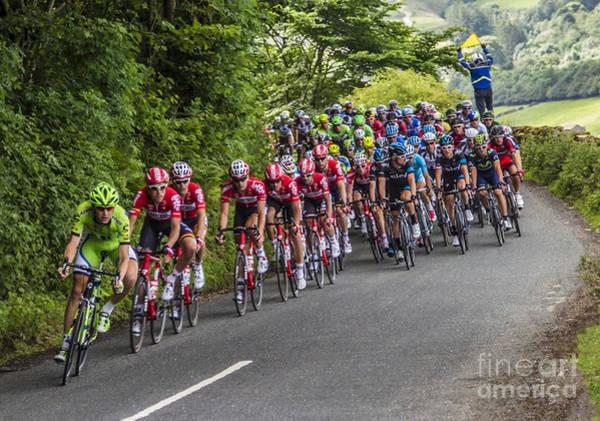 Le Tour De France Wall Art - Photograph - The Peleton - Yorkshire by Sandra Cockayne ADPS