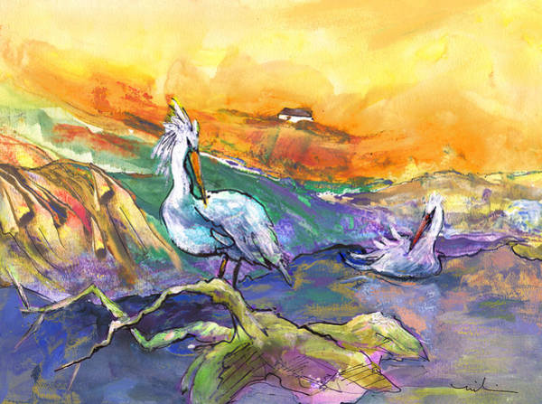 Painting - The Pelican Affair by Miki De Goodaboom