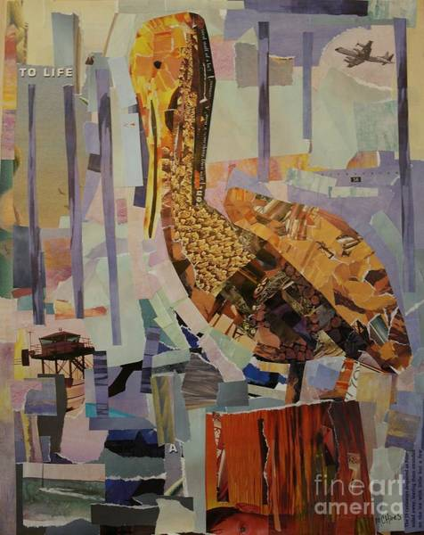 Pelican Mixed Media - The Pelican by Mary Chris Hines