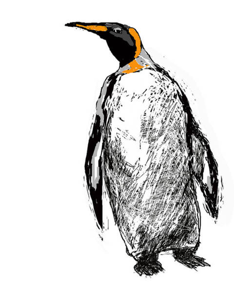 Digital Art - The Penguin by Paul Sutcliffe
