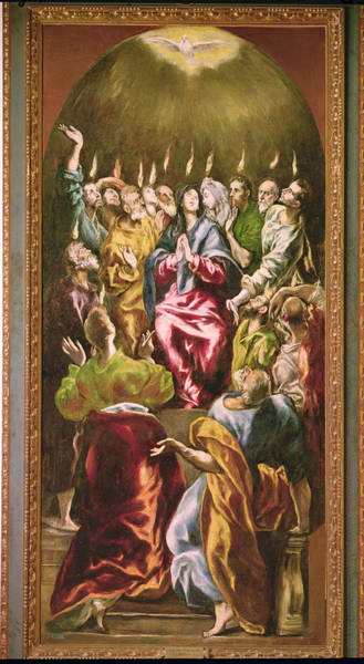 Awe Photograph - The Pentecost, C.1604-14 Oil On Canvas by El Greco