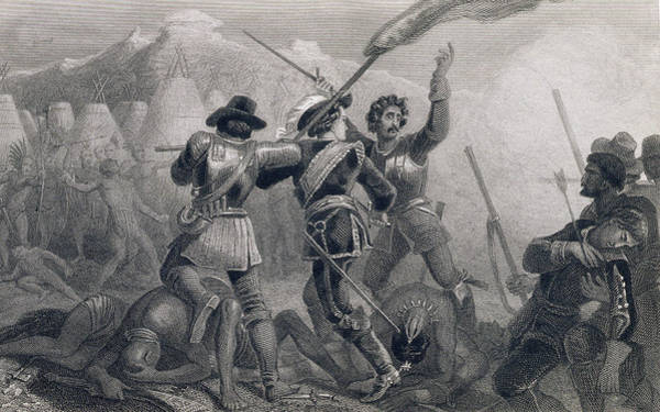 Tribe Photograph - The Pequod War, 1636, From The History Of The United States, Vol. I, By Charles Mackay, Engraved by Edward Henry Corbould