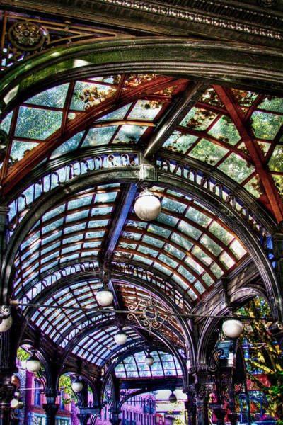 Storefront Photograph - The Pergola Ceiling In Pioneer Square by David Patterson