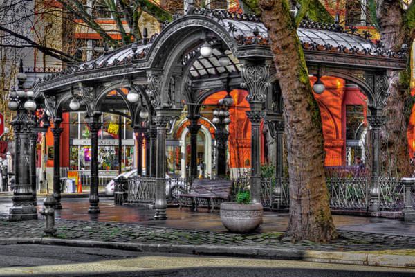 Photograph - The Pergola In Pioneer Square - Downtown Seattle by David Patterson