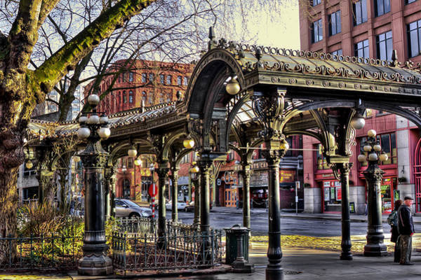 Photograph - The Pergola In Pioneer Square - Seattle Washington by David Patterson