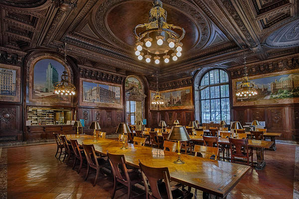 Photograph - The Periodical Room At The New York Public Library by Susan Candelario