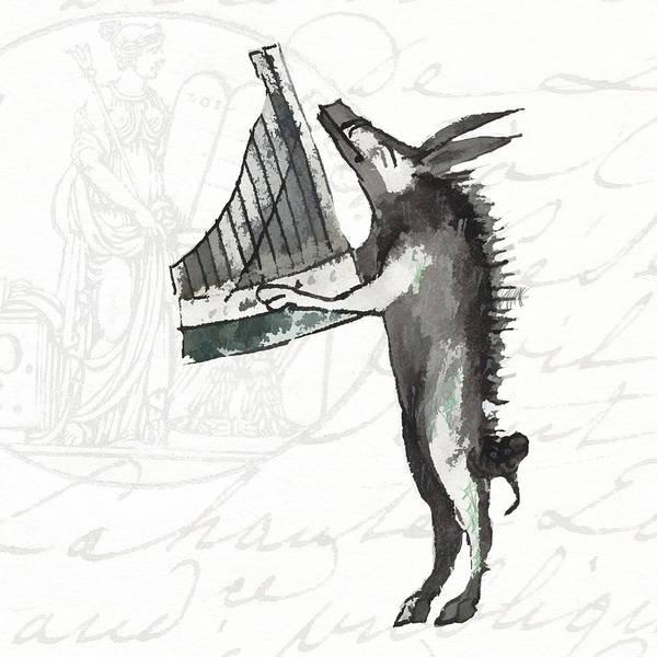 Celtic Mythology Wall Art - Digital Art - The Phantasmagorical Farmyard Boar by Kandy Hurley