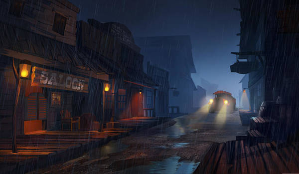 Ghost Towns Wall Art - Painting - The Phantom 309 by Kristina Vardazaryan
