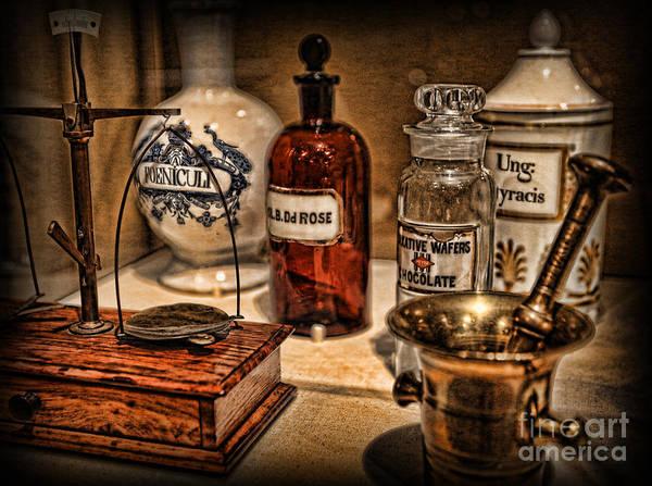 Wall Art - Photograph - The Pharmacist's Cupboard - The Pharmacist by Lee Dos Santos